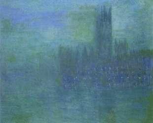 Вестминстерский дворец, эффект тумана — Клод Моне