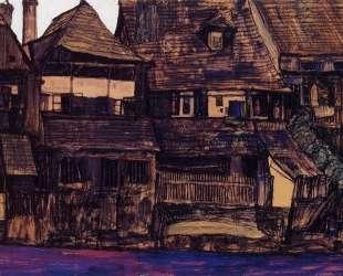 Houses on the Moldau, Krumau — Эгон Шиле