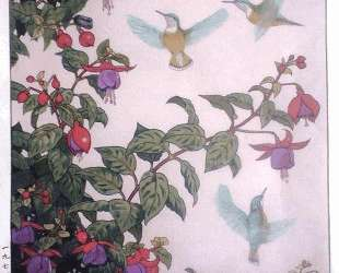 Hummingbird and Fuchsia — Тоси Ёсида