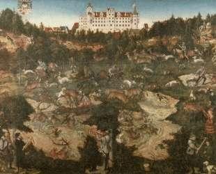 Охота в честь Карла V в замке Торгау — Лукас Кранах Старший