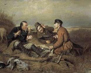 Охотники на привале — Василий Перов