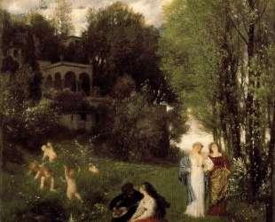 Ideal spring landscape — Арнольд Бёклин