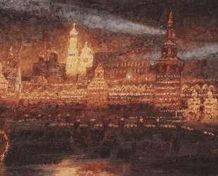 Иллюминация Москвы — Василий Суриков