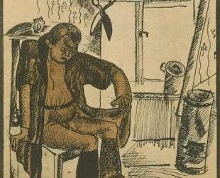 Иллюстрация к басне И. А.Крылова «Кот и повар» — Александр Дейнека