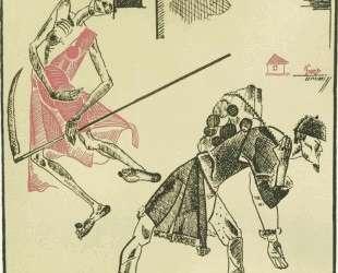 Иллюстрация к басне И. А.Крылова «Крестьянин и смерть» — Александр Дейнека