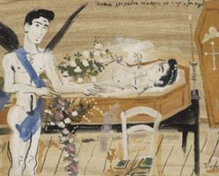 Illustration for Cavafy's poem Lovely White Flowers — Янис Царухис