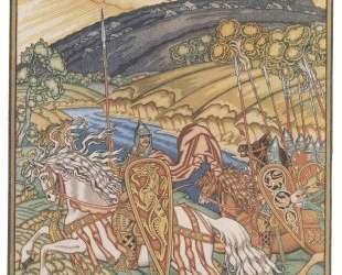 Иллюстрация к былине 'Вольга и Микула' — Иван Билибин