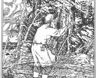 Иллюстрация к 'Сказке о рыбаке и рыбке' А. С. Пушкина — Иван Билибин