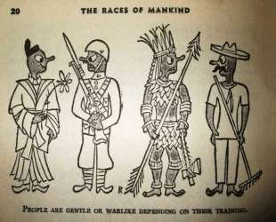 Illustration for 'The Races of Mankind' by Ruth Benedict and Gene Weltfish — Эд Рейнхардт