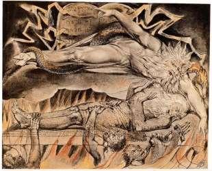 Иллюстрация к Книге Иова — Уильям Блейк