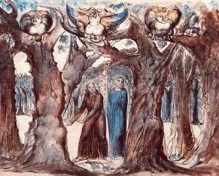 Иллюстрация к поэме Данте 'Божественная комедия', Ад — Уильям Блейк