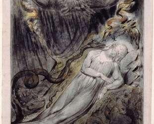 Иллюстрация к пасторали Джона Мильтона 'Комус' — Уильям Блейк