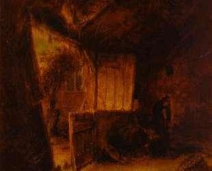 In a Barn — Адриан ван Остаде