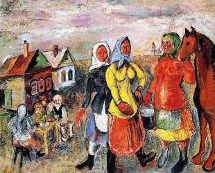 В русской деревне — Давид Бурлюк