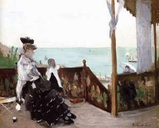 In a Villa at the Seaside — Берта Моризо