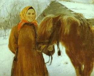 Баба с лошадью — Валентин Серов
