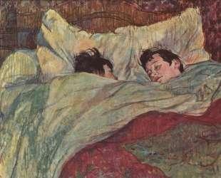 In bed — Анри де Тулуз-Лотрек