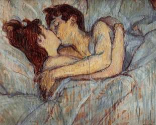 In Bed The Kiss — Анри де Тулуз-Лотрек