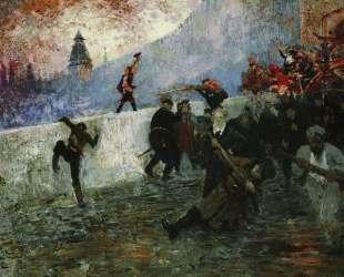 В осажденной Москве в 1812 году — Илья Репин