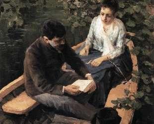В лодке — Константин Коровин