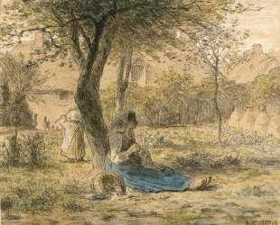 В саду — Жан-Франсуа Милле