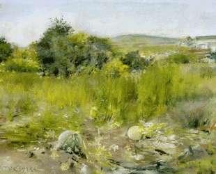 In the Garden (aka A Squatter's Hut, Flatbush or The Old Garden) — Уильям Меррит Чейз