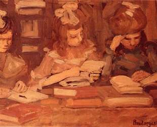 In the Library (also known as Three School Girls) — Морис Прендергаст