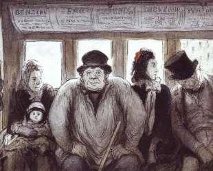 В омнибусе — Оноре Домье