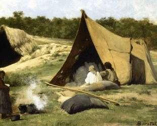 Indian Camp — Альберт Бирштадт