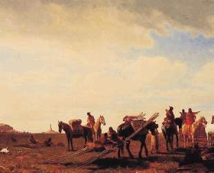 Indians Travelling Near Fort Laramie — Альберт Бирштадт