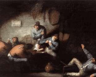 Inn Scene — Адриан ван Остаде