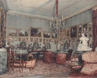 Interior in Palace Windischgratz in the race in Wien — Рудольф фон Альт