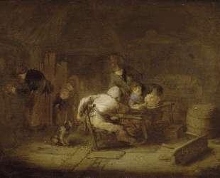 Interior of a Tavern — Адриан ван Остаде