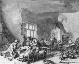 Interior of an Inn — Адриан ван Остаде