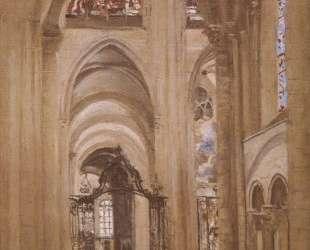 Интерьер собора Святого Этьена — Камиль Коро