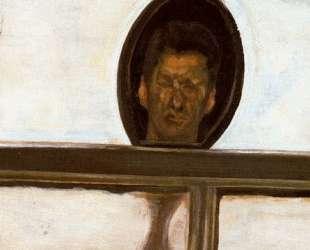 Интерьер с ручным зеркалом (автопортрет) — Люсьен Фрейд