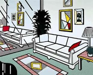 Интерьер с зеркальной стеной — Рой Лихтенштейн