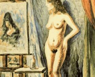 Interior with nude — Рафаэль Забалета