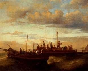 Italian Fishing Vessels at Dusk — Адольф Жозеф Тома Монтичелли