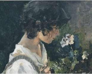 Italian Girl with Flowers — Хоакин Соролья