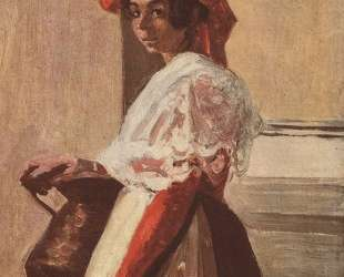 Итальянка с кружкой — Камиль Коро