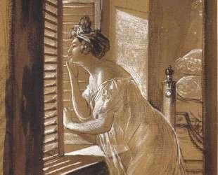 Женщина, посылающая поцелуй из окна — Карл Брюллов