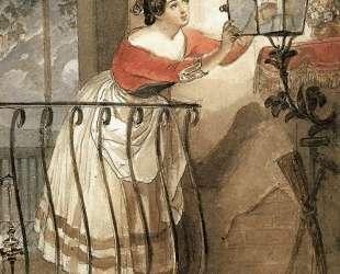 Итальянка, зажигающая лампаду перед образом мадонны — Карл Брюллов