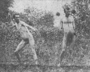 J. Laurie Wallace and unidentified model — Томас Икинс