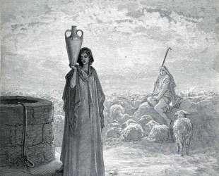 Иаков пасет стада Лавана — Гюстав Доре