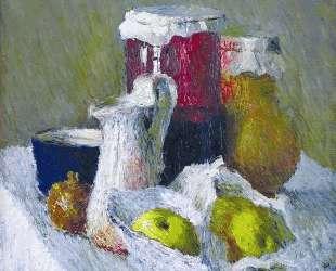 Банка с вареньем и яблоки — Игорь Грабарь