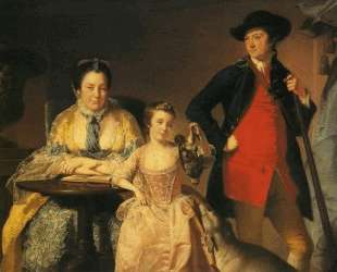 James and Mary Shuttleworth with One of Their Daughters — Джозеф Райт