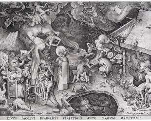 Святой Иаков Старший и маг Гермоген — Питер Брейгель Старший