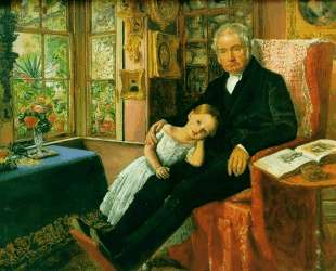 James Wyatt and His Granddaughter Mary — Джон Эверетт Милле