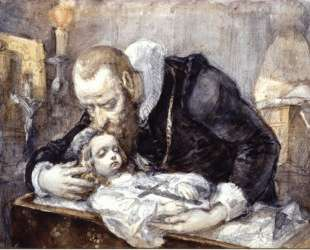 Jan Kochanowski over the dead body of his daughter — Ян Матейко